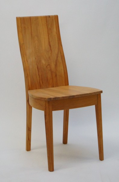Stuhl 407 mit Holzsitz und Holzrücken