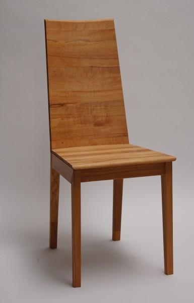 Stuhl 401 mit Holzsitz und Holzrücken