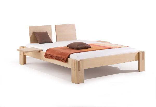 Massivholzbett Nuveo Maxi mit Einstecklehnen