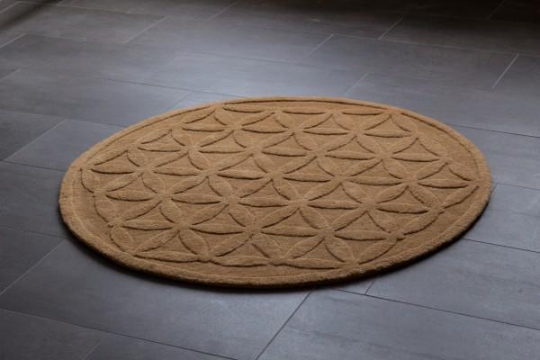 Teppich «Blume des Lebens» Zimt 120 cm Ø