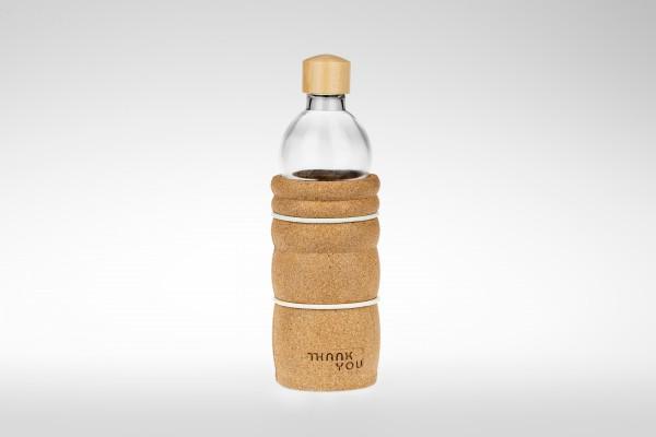 THANK YOU Trinkflasche 0,7 - mit Holzdeckel