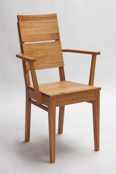 Armlehnstuhl 405 mit Holzsitz und Holzrücken