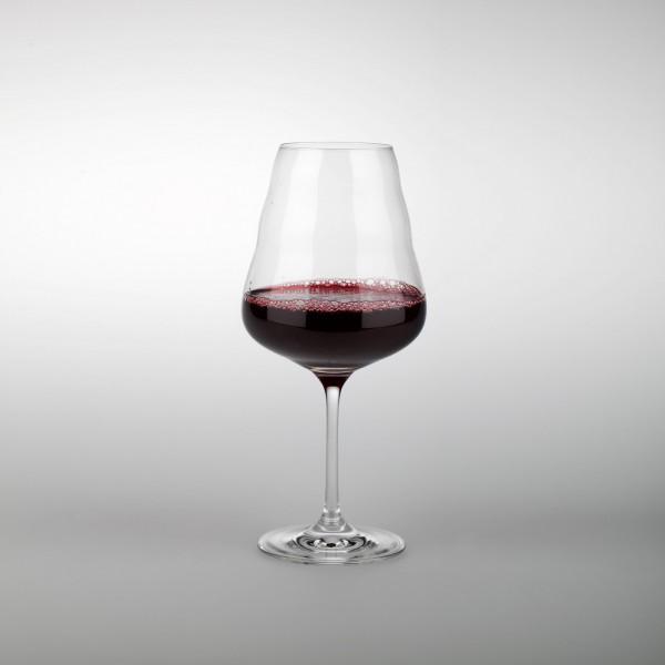 Calix Rotweinglas (mundgeblasen) mit BdL